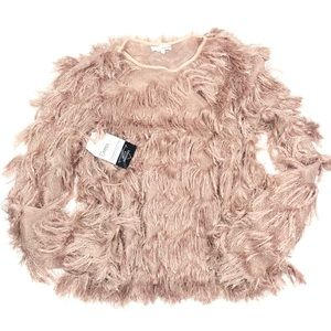 NWT Boutique Honey Belle Blush Pink Fuzzy Sweater